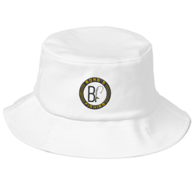 Black Label white bucket hat
