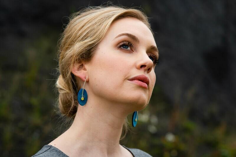 Found: Blue Oval Drop Earrings