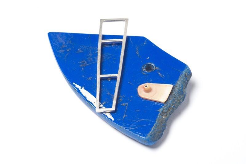 Found: Blue, Blue, Electric Blue Brooch