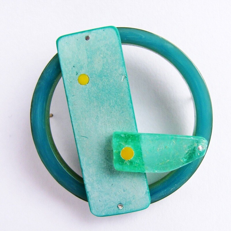 Found: Green and Yellow Brooch