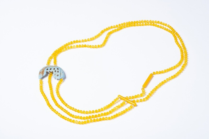 Found: Yellow and Blue Multi-strand Necklace