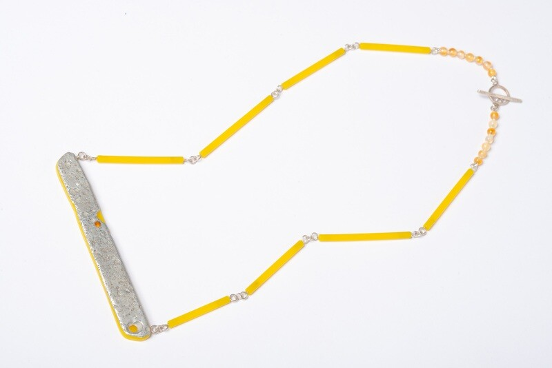 Found: Eroded Yellow Necklace