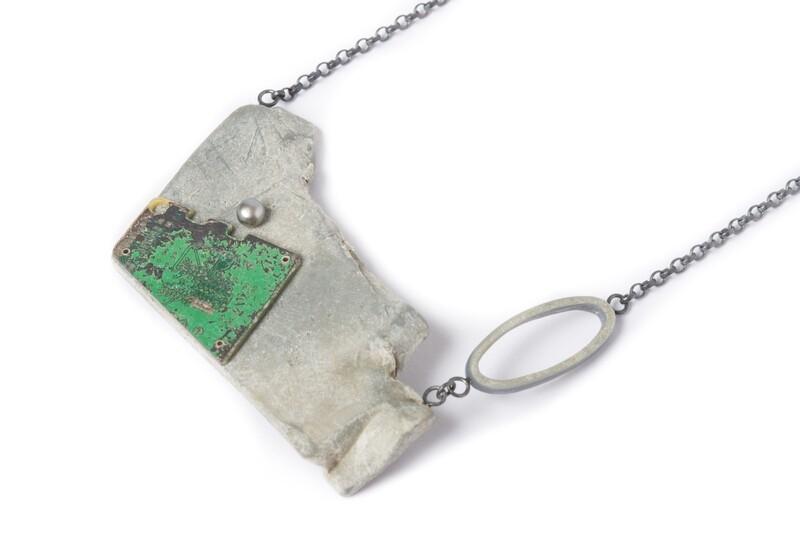 Grey Circuit Necklace