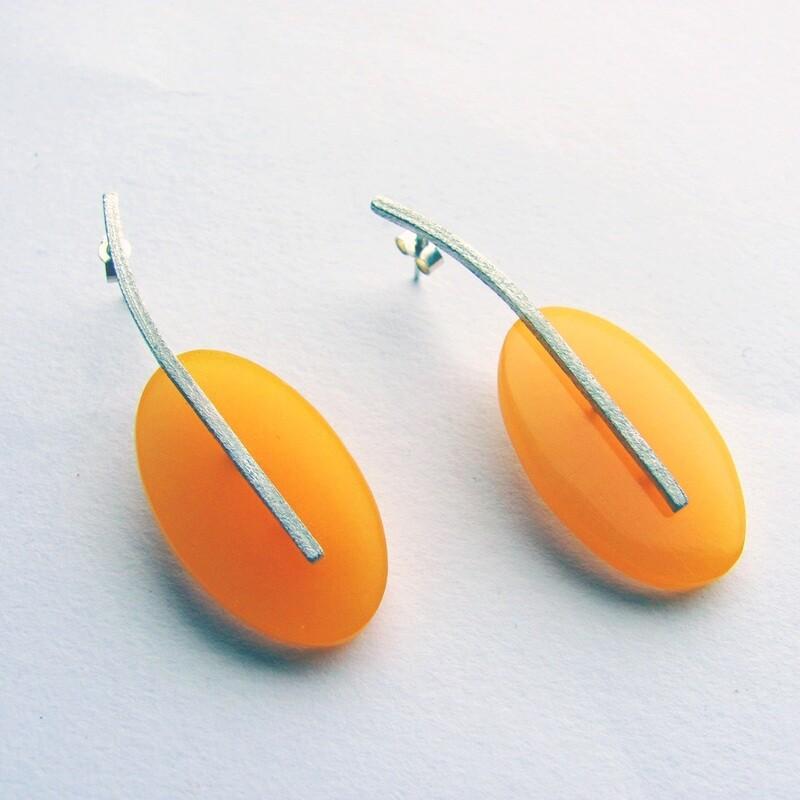 Found: Amber Oval Earrings
