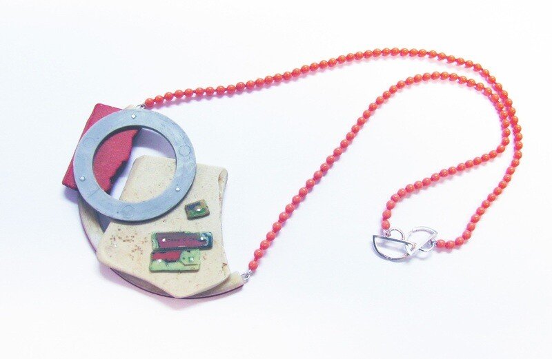 Assemblage Necklace: Grey Hoop