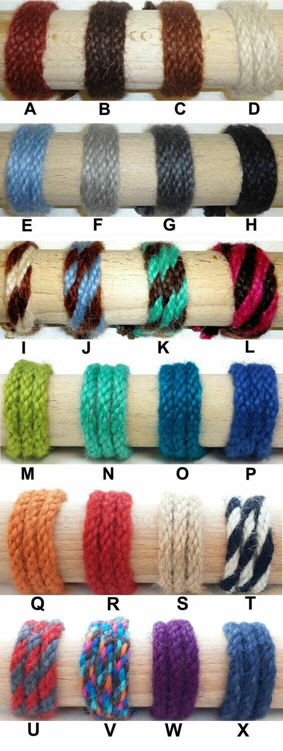 8 ply mohair cords