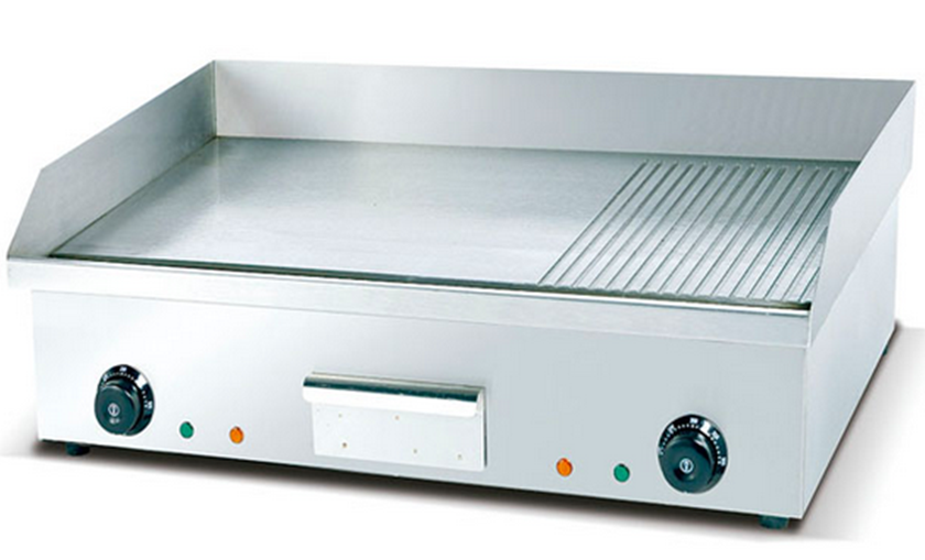 Half Flat & Half Grooved Top Electric Griddle Plate