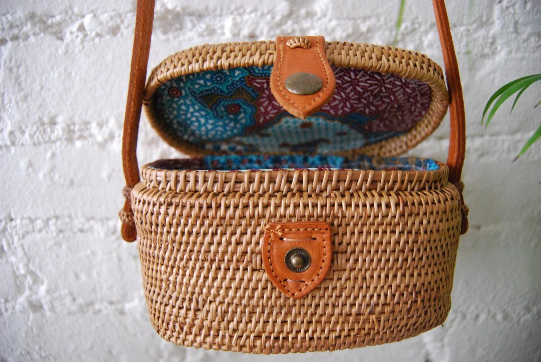 Bali rattan purse