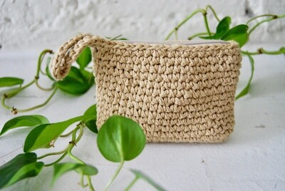 Handmade knitted change purse