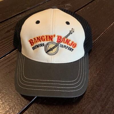 Bangin' Banjo Snapback Hat - WHITE/GRAY