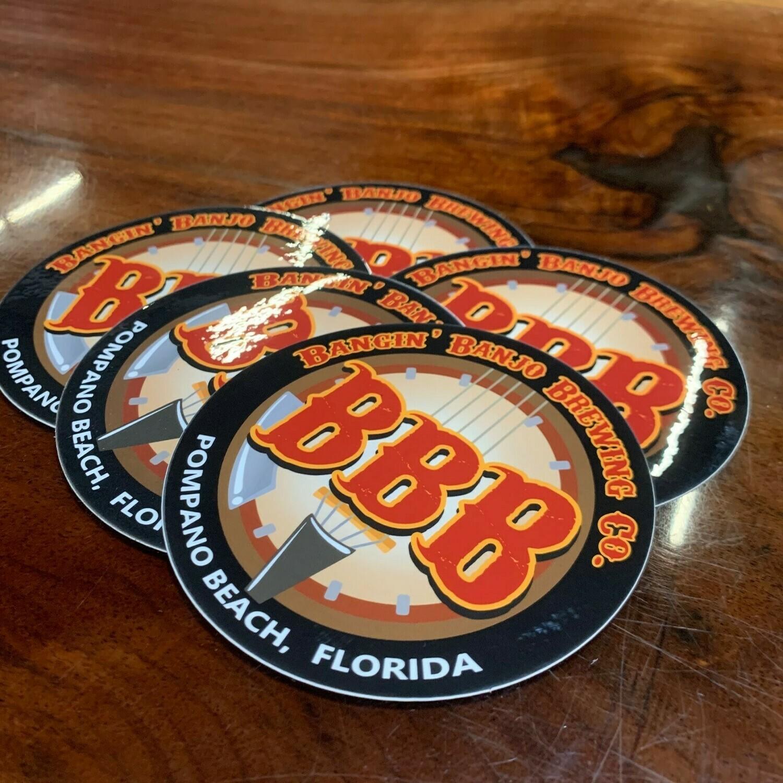 Bangin' Banjo Logo -- Sticker Pack!