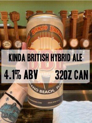 32oz Crowler - Kinda British Lager/Ale Hybrid 4.1% ABV