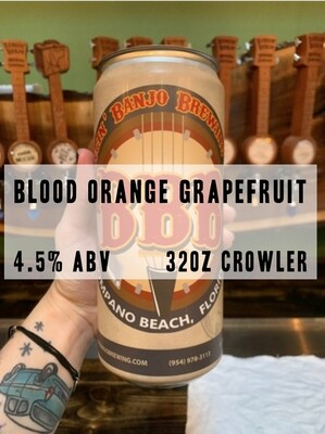 32oz Crowler - Blood Orange Grapefruit Gose 4.5% ABV