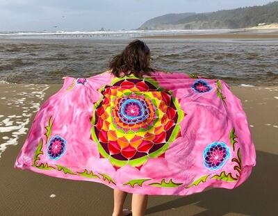 Batik Art Pink Circle Sarong