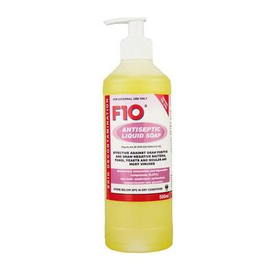F10 Antiseptic Liquid Soap With Pump - 500ml