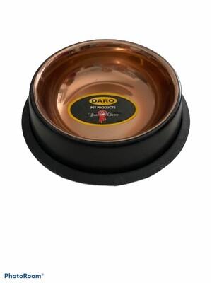 Anti Skid Black And Gold Bowl