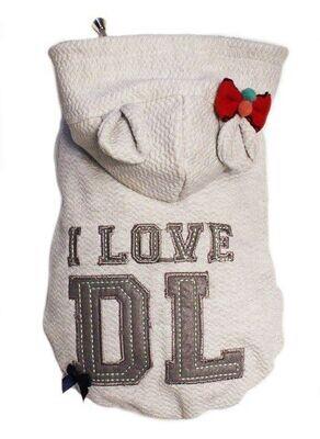 Dog's Life I Love DL Hoodie - Grey