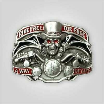 Ride Free Die Free Buckle