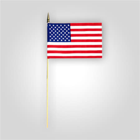"8""X12"" Poly-Cotton American Stick Flags"
