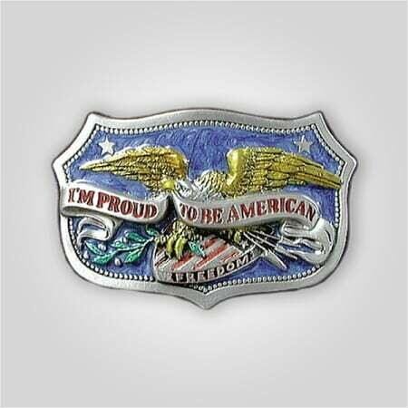 Proud to be American Belt Buckle