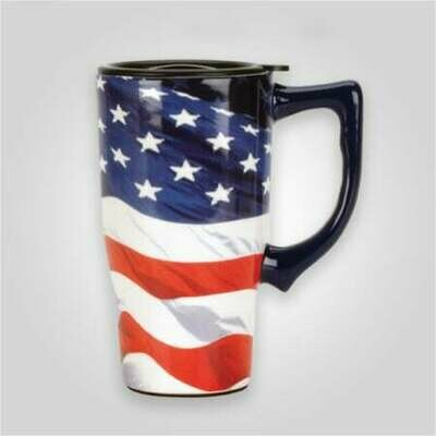 American Flag Travel Mug