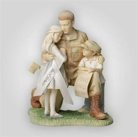 'Coming Home' Soldier Family Figurine
