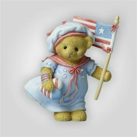 Patriotic Bear Figurine