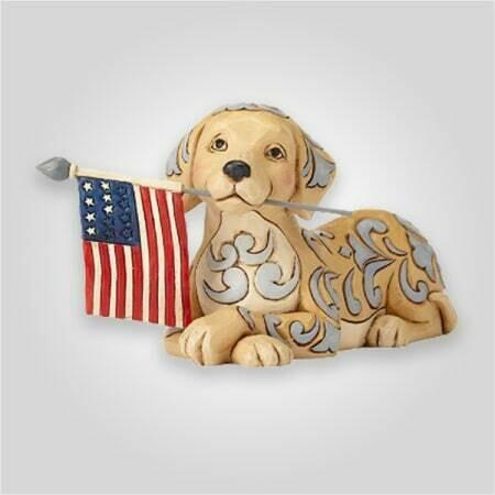Patriotic Dog Figurine