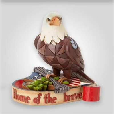 Jim Shore Patriotic Eagle Figure