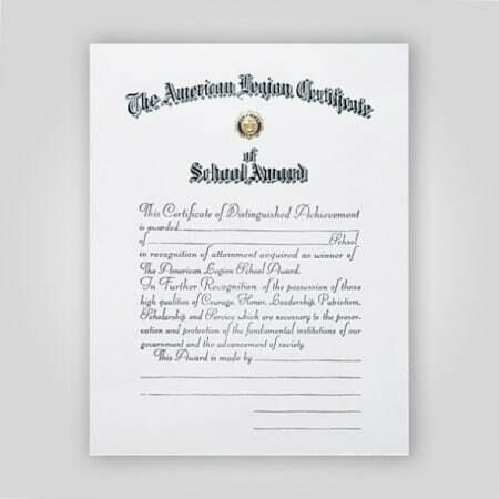School Award Certificate