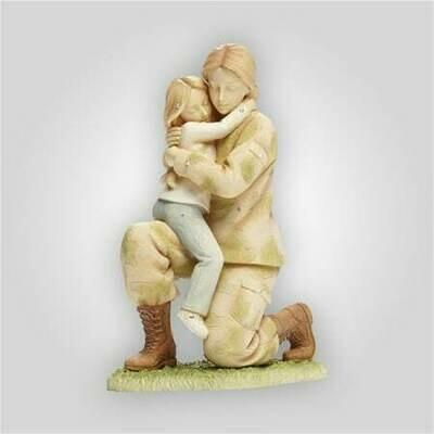 Servicewoman Returning Home Figurine