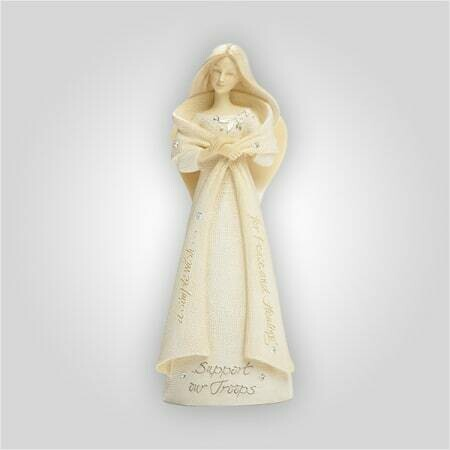 'Support Our Troops' Angel Figurine