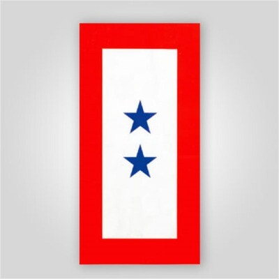 2 Star Blue Star Service Window Decal
