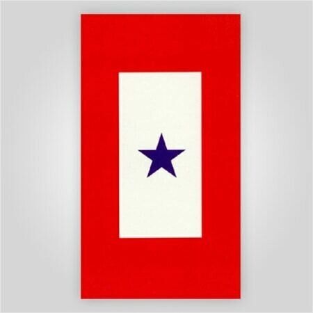 "Blue Star Decal - 3"" x 6"""