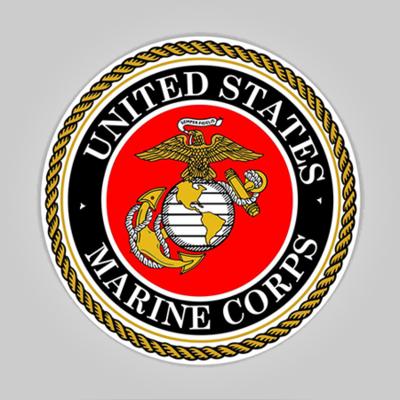 "Marines 3"" Round Decal"