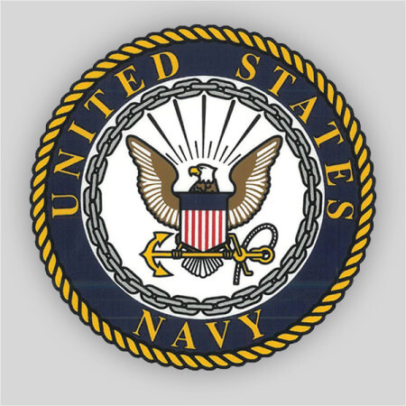 "Navy 4"" Window Decal"