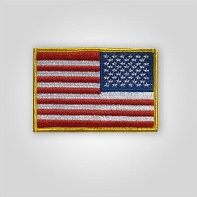 Right Shoulder Embroidered Flag Patch