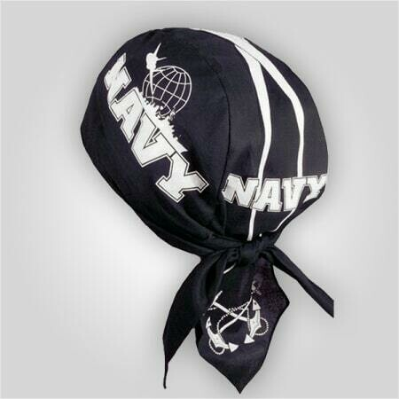 Navy White Stripe Do-Rag