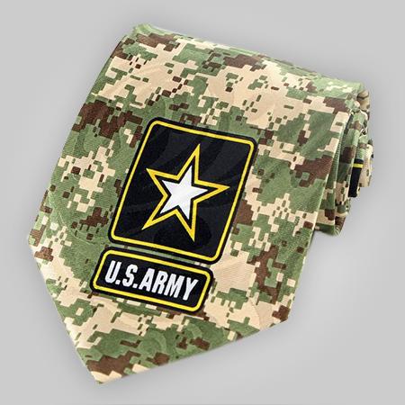 US Army Digital Green Camo Neck Tie