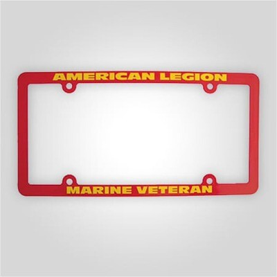 American Legion - Marines Veteran License Plate Frame