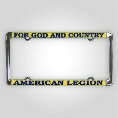 For God and Country - American Legion License Plate Frame