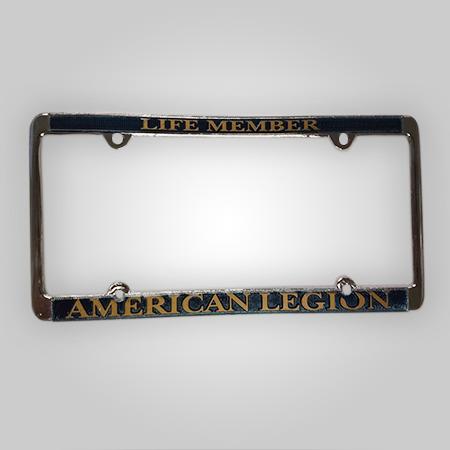 Life Member - American Legion License Plate Frame Gold