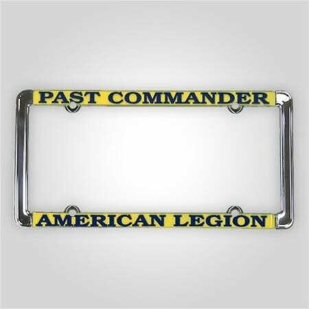 Past Commander - American Legion License Plate Frame