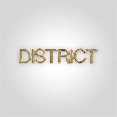 Cap Bar Pin - District