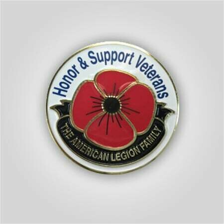 Honor and Support Veterans Poppy Pin