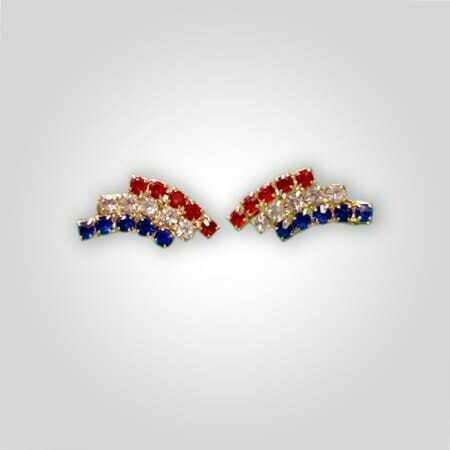 Patriotic Clipon Earrings