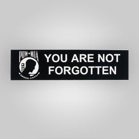 POW-MIA Removable Bumper Sticker