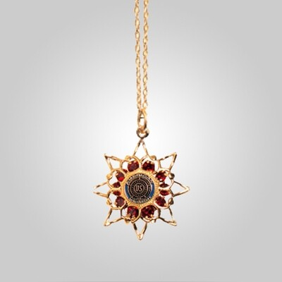 Ruby Star Necklace with Legion Emblem