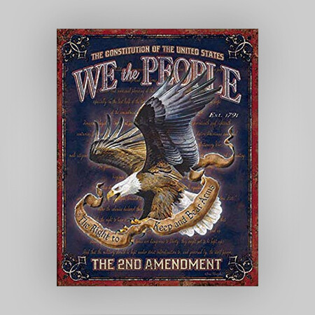 """We The People"" Tin Sign"