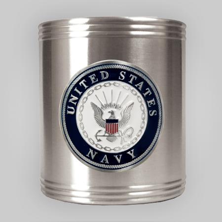 Navy Emblem Steel Can Holder